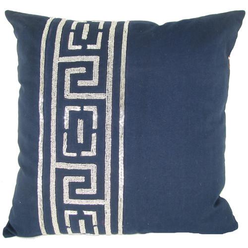 Design Accents LLC Beaded Key Jute Throw Pillow