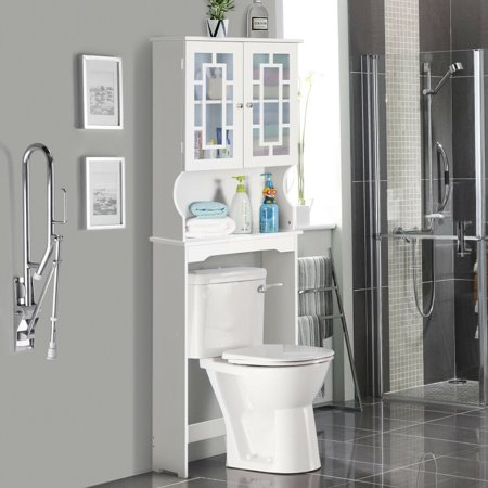 Storage Cabinet Tower Organizer Over The Toilet Bathroom Spacesaver