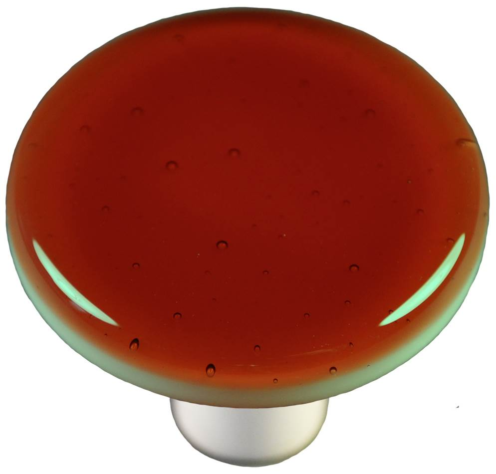 Round Knob in Sunset Coral (Aluminum)
