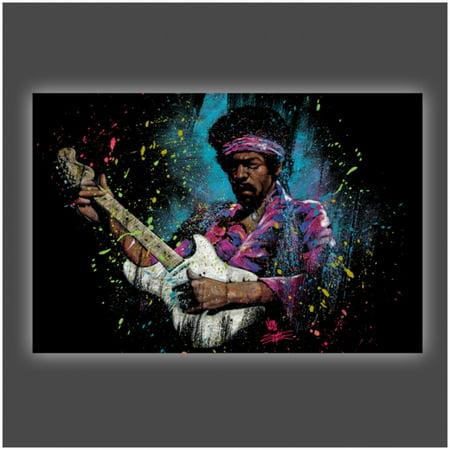 Jimi Hendrix Electric Glow Poster Print By Stephen Fishwick  36 X 24