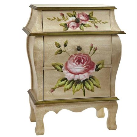 Sarahndipity Antique Night Stand with Floral Art
