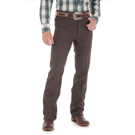 Wrangler Men's Wrancher Stretch Boot Dress Jeans Heather Dark Chocolate HD 28X32