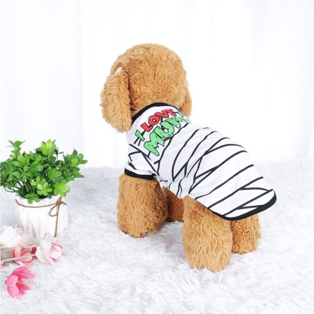 Dog T Shirt Puppy Small Pet Sweatshirt Tops Clothes Apparel Vest Costume #13, L - image 7 of 7