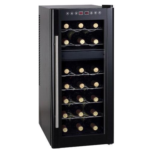 Sunpentown 21 Bottle Dual Zone Freestanding Wine Refrigerator