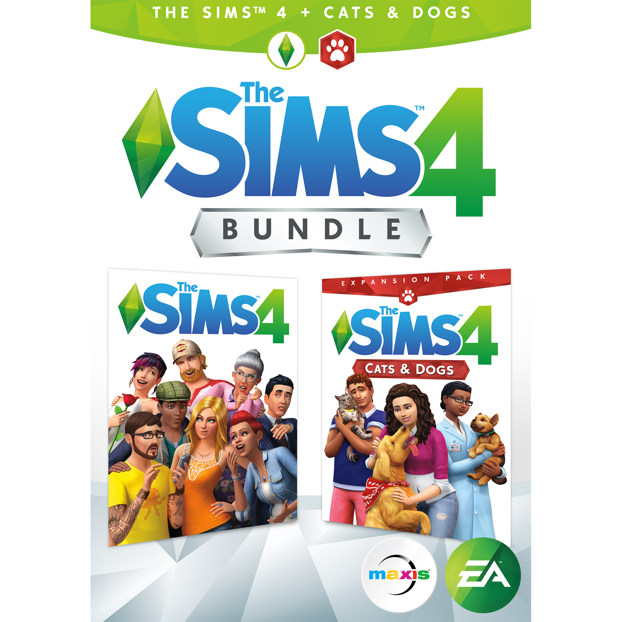 Electronic Arts The Sims 4 Plus Cats & Dogs Bundle (Email Delivery)