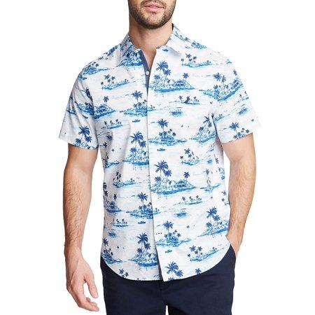 Graphic Short-Sleeve Button Down Shirt