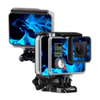 Mightyskins Protective Vinyl Skin Decal Cover for GoPro Hero Camera Digital Camcorder wrap sticker skins Blue Flames