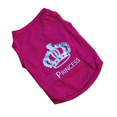 Cute Pet Dog Crown Princess T-Shirt Vest Dress Clothes Coat - Police Dog Outfit