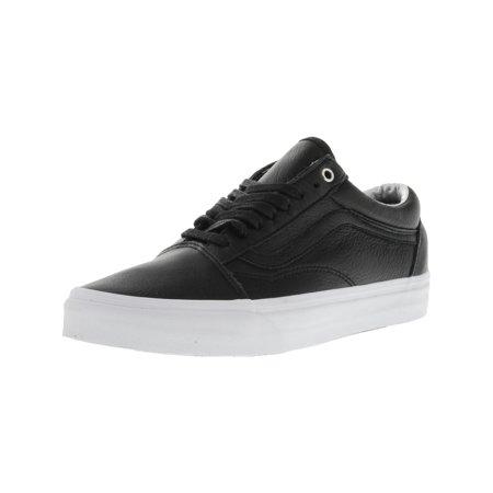 ccf01fefb197f5 Vans - Vans Old Skool Hologram Black   True White Ankle-High Leather  Skateboarding Shoe - 9M 7.5M - Walmart.com