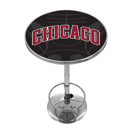 NBA Chrome Pub Table - Fade - Chicago Bulls Chicago Bears Pub Table