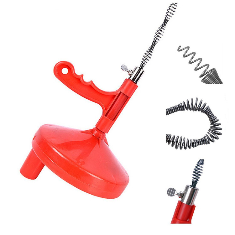 General Drain Snake Sewer Snake Pipe Cleaners R-25SM Spin Thru Drain Auger with 1/4-Inch by 25-Feet Cable