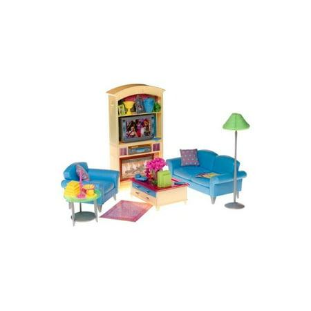 Barbie Decor Collection Living Room Playset Walmart Com