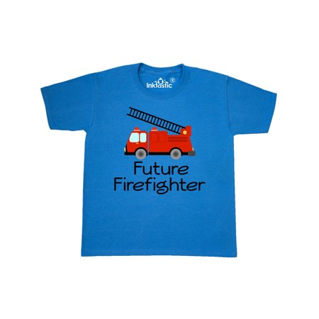 Ladder Truck Future Firefighter Youth T-Shirt (Firefighter Ladder Belt)