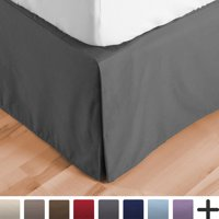 Product Image Bed Skirt Double Brushed Premium Microfiber 15 Inch Tailored Drop Pleated Dust Ruffle