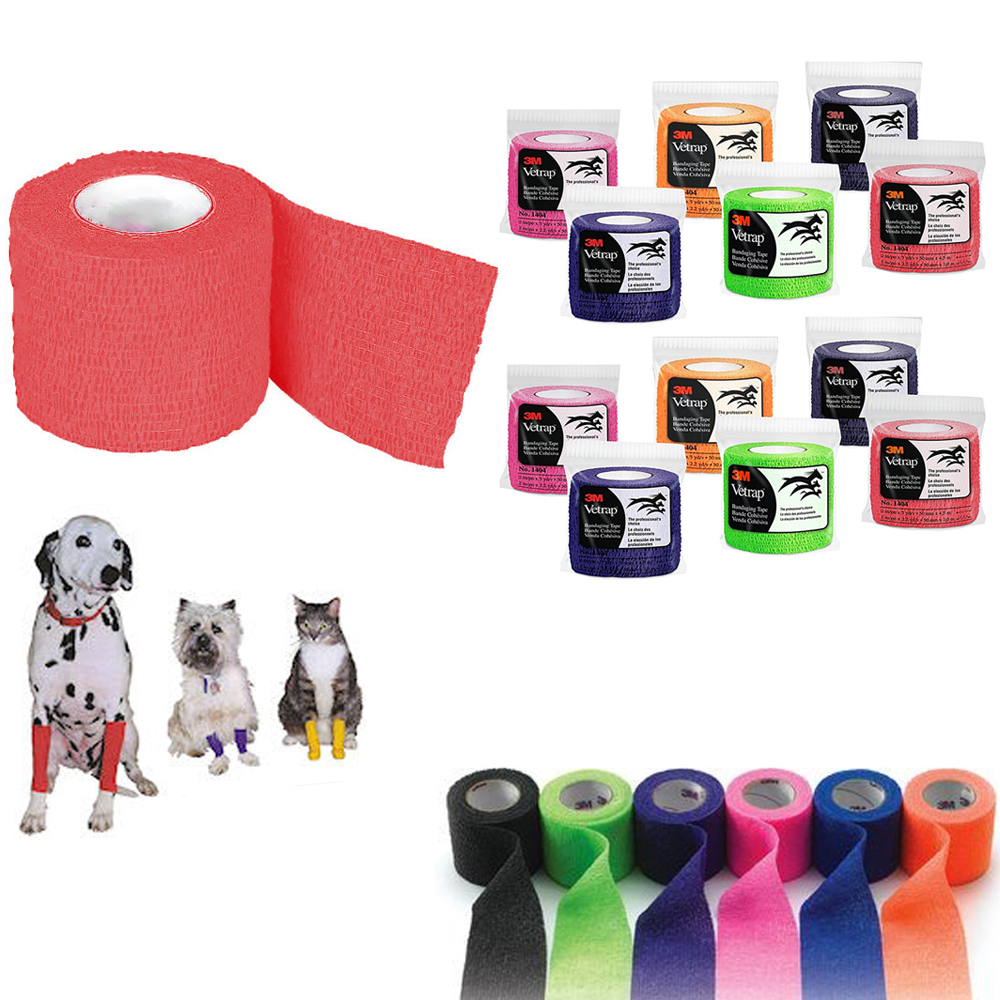 12 VetRap 3M Bandaging Tape Pet Bandages Wrap Self Adhesive Wound Care Support