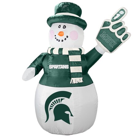 Michigan State Spartans 7' Inflatable Snowman - No Size