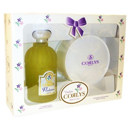 Corlys violet splash cologne and dusting powder. For Boys or Girls