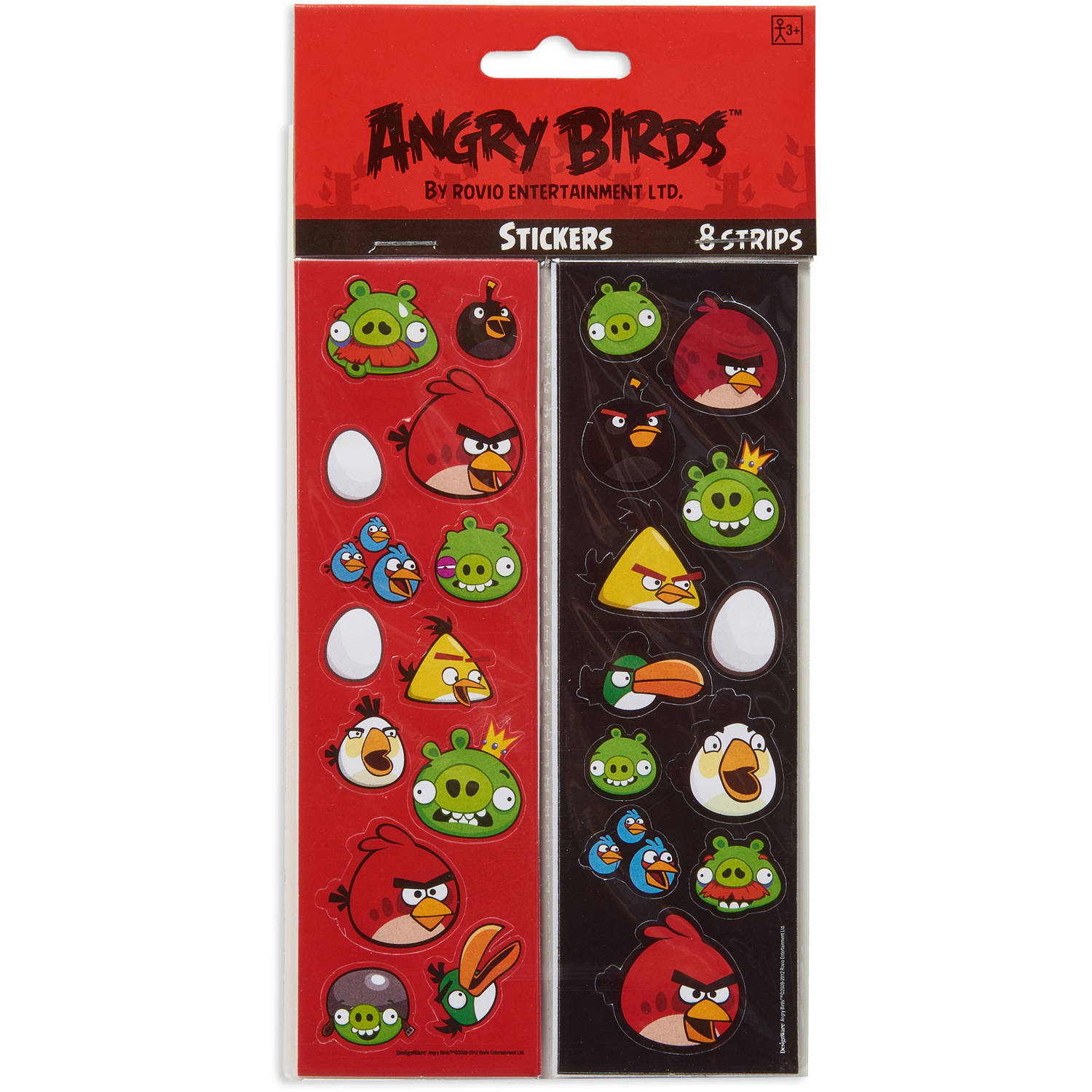 Angry Birds Sticker Sheets, 8 Count, Party Supplies