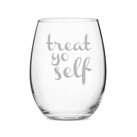 Treat Yo Self Stemless 15 oz Wine Glass ()