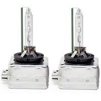 D1S 35W 6000K Color White HID Xenon Replacement Headlight Bulbs Pair Set x2 NEW