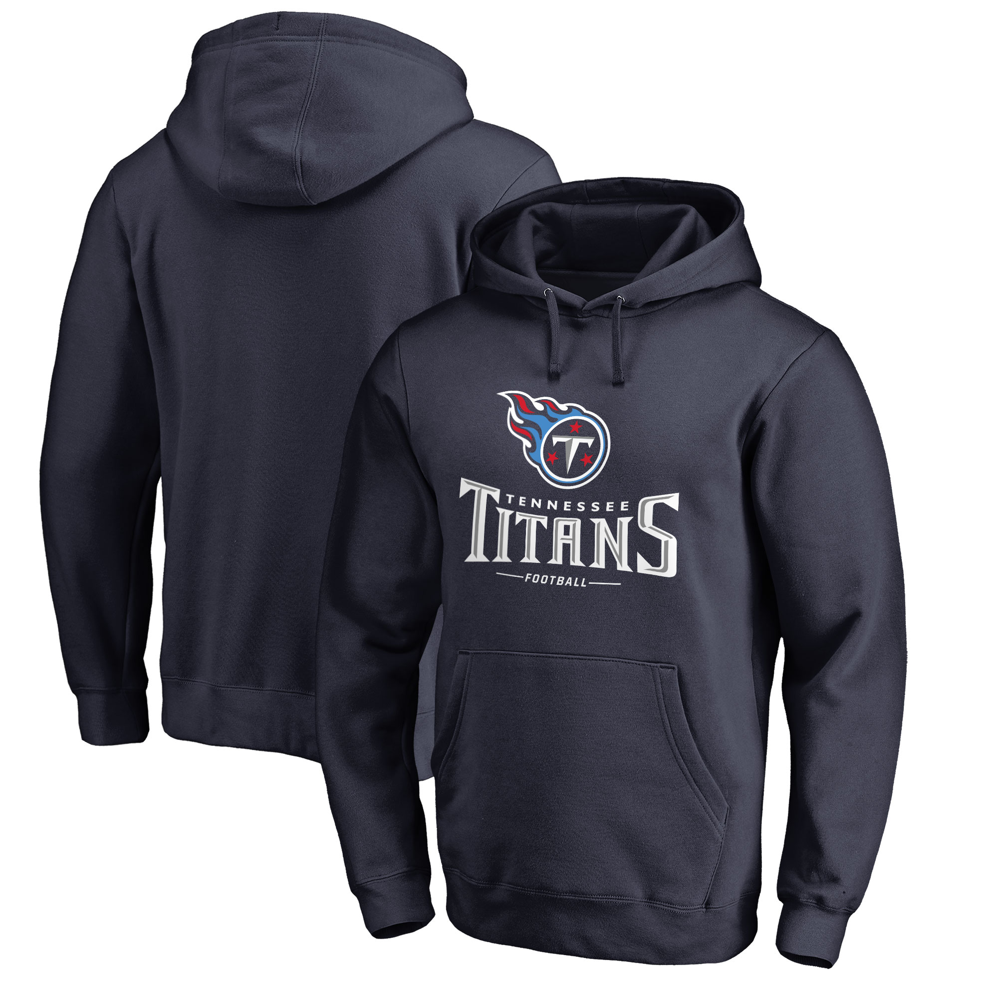 Tennessee Titans NFL Pro Line by Fanatics Branded Team Lockup Pullover Hoodie - Navy
