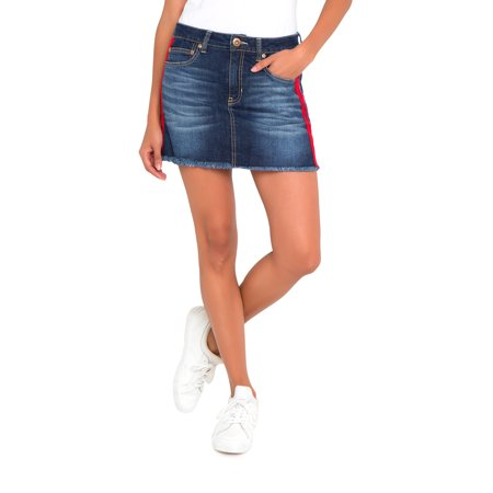 Jean Skirt (Juniors' Basic Denim Skirt with Side)
