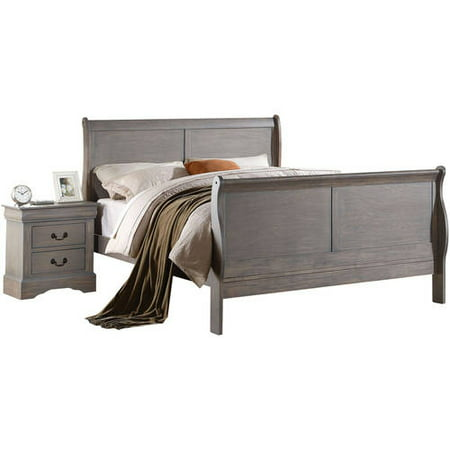 Acme Louis Philippe III Full Bed, Antique Gray