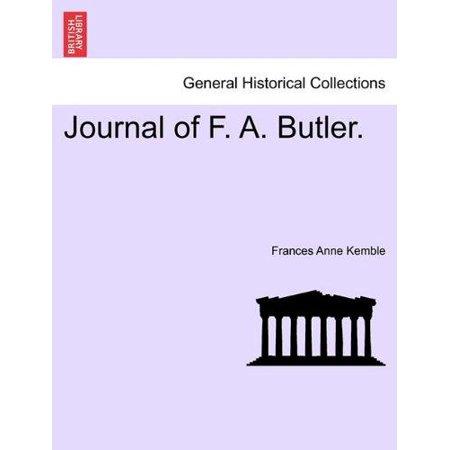 Journal Of F  A  Butler
