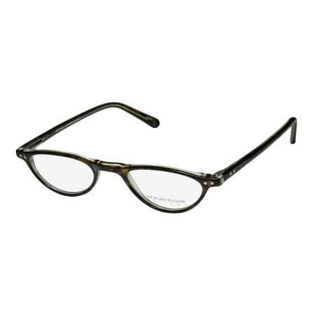 New Richard Taylor Heidi Mens/Womens Cat Eye Full-Rim Tortoise / Crystal Hip School Teacher Look Cat Eye Frame Demo Lenses 45-21-140 Spring Hinges (New Look Eyeglasses)