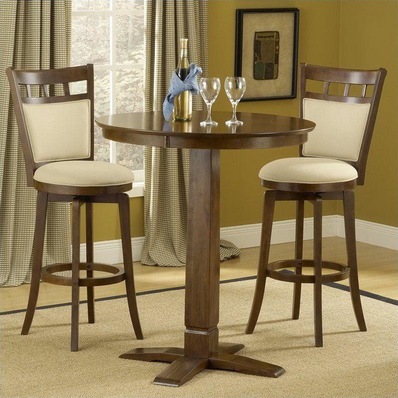 Hillsdale Dynamic Designs 5 Piece Pub Table Set with Jefferson Stools