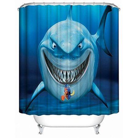DEYOU Finding Nemo Shower Curtain Polyester Fabric Bathroom Size 66x72 Inch