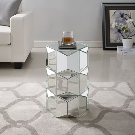 designer fashion 75801 d431e Jord Glam Mirrored Accent Table, Mirror