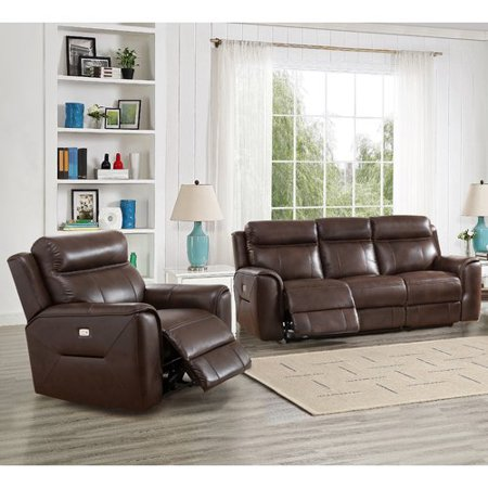 Red Barrel Studio Efren Reclining 2 Piece Leather Living
