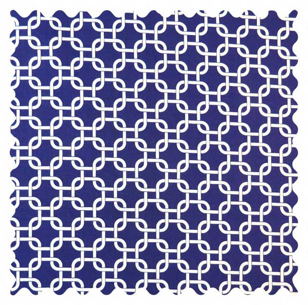SheetWorld Purple Links Fabric - By The Yard
