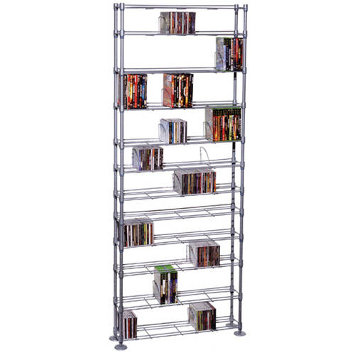 Atlantic Maxsteel 12-Tier Multimedia Rack, Silver