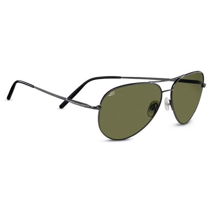 2eeca995ed Serengeti Eyewear - Sunglasses Medium Aviator 7190 Gunmetal Frame 555nm  Polarized - Walmart.com