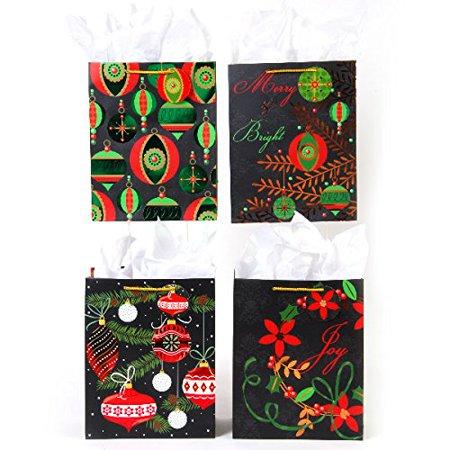 flomo extra large joyful elegance hot stamp christmas gift bags