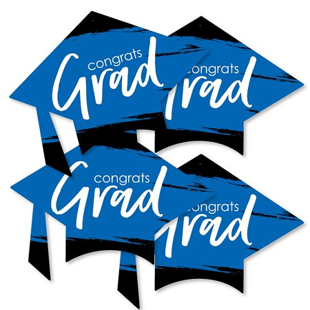 Blue Grad - Best is Yet to Come - Grad Cap Decorations DIY Royal Blue Graduation Party Essentials - Set of 20  - Diy Graduation Cap Decorations