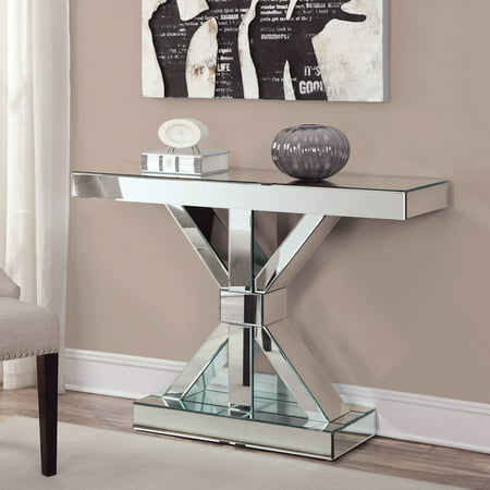 Coaster Furniture Mirrored Modern Console Table