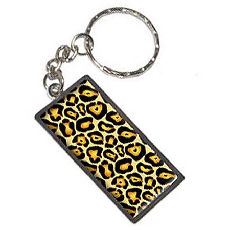 (Jaguar Print Keychain Key Chain Ring)