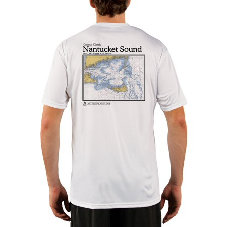 da0042fa41 Altered Latitudes - Nantucket Sound Chart Men's UPF 50+ UV/Sun Protection  Short Sleeve T-Shirt - Walmart.com