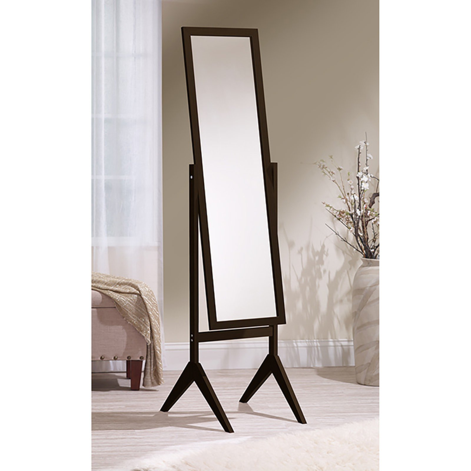 Mirrotek Freestanding Full Length Cheval Mirror by