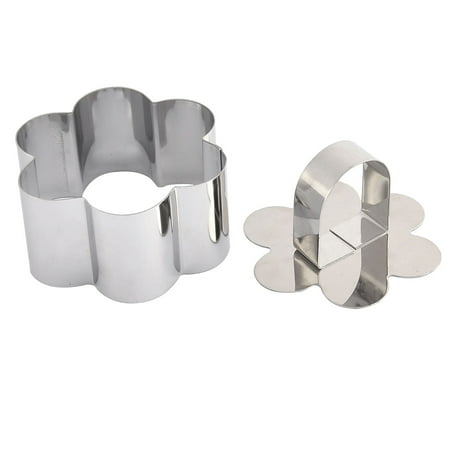 Kitchen Metal Flower Shaped Biscuit Cookie Cake Bakery Cutter Mold Set 2 in 1 (Halloween Cakes And Biscuits)