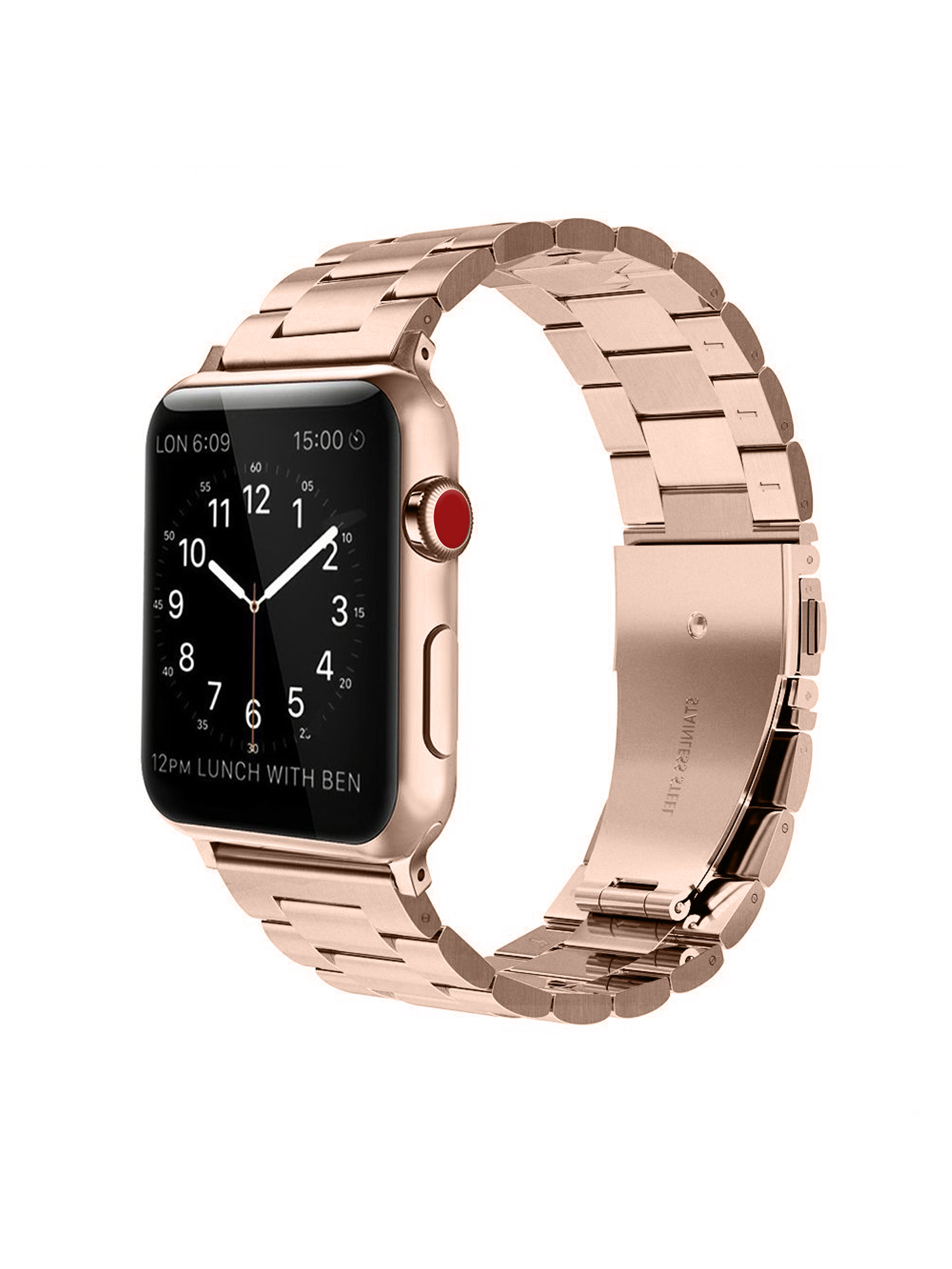 For Apple Watch Band 42mm Solid Stainless Steel Metal Replacement Wrist Bands...