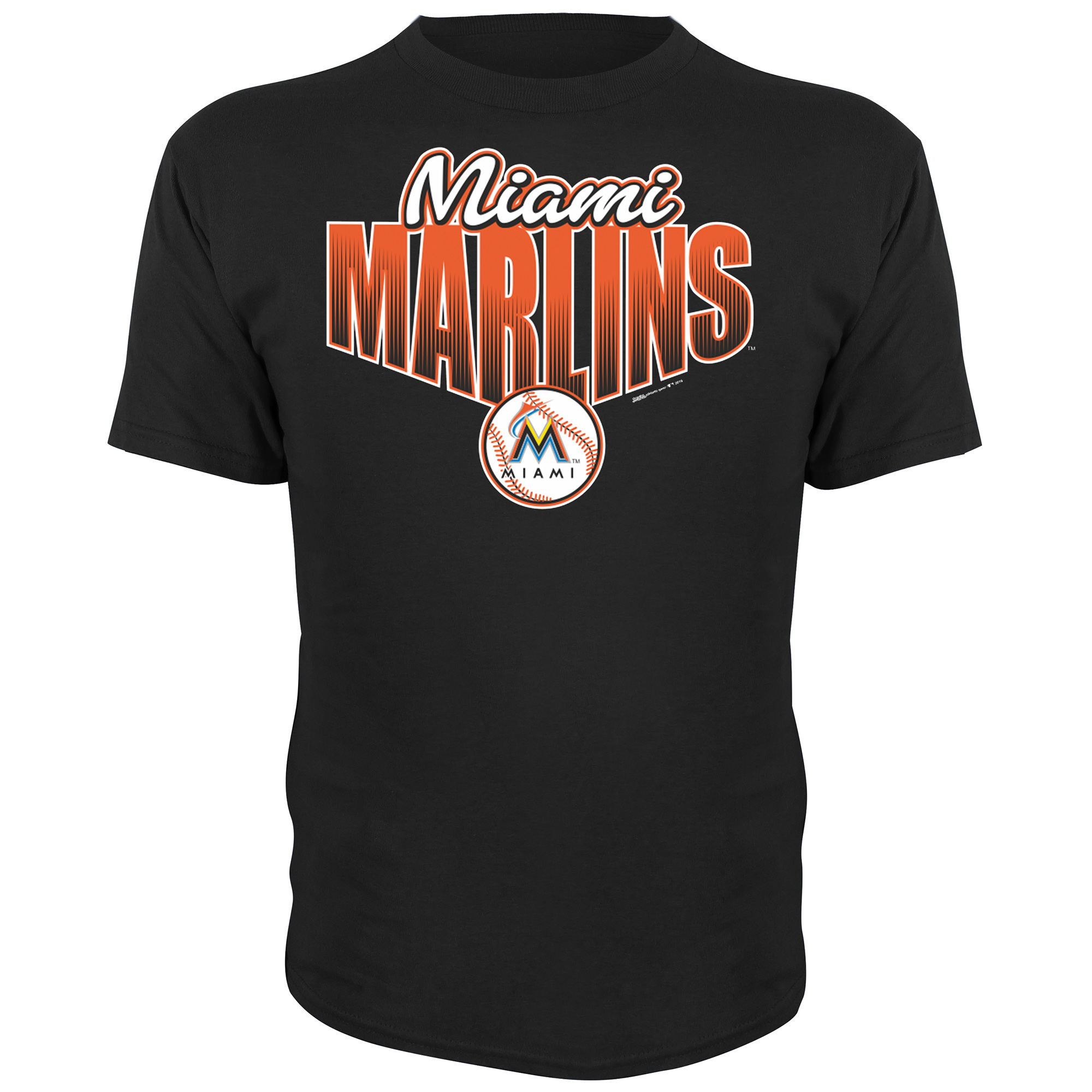 Miami Marlins Stitches Youth Gradient Text T-Shirt - Black