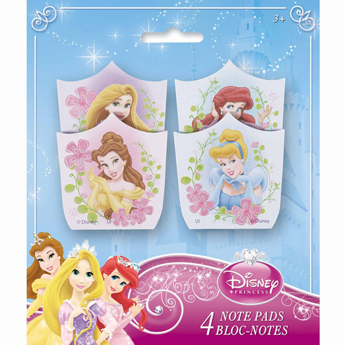 Disney Princess Note Pad Party Favors, 4ct