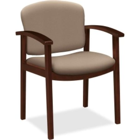 HON 2111 Single Rail Arm Mahogany Guest Chair