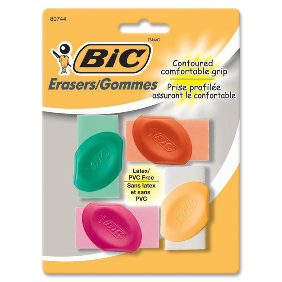 BIC Contoured Comfortable Grip Erasers by Bic