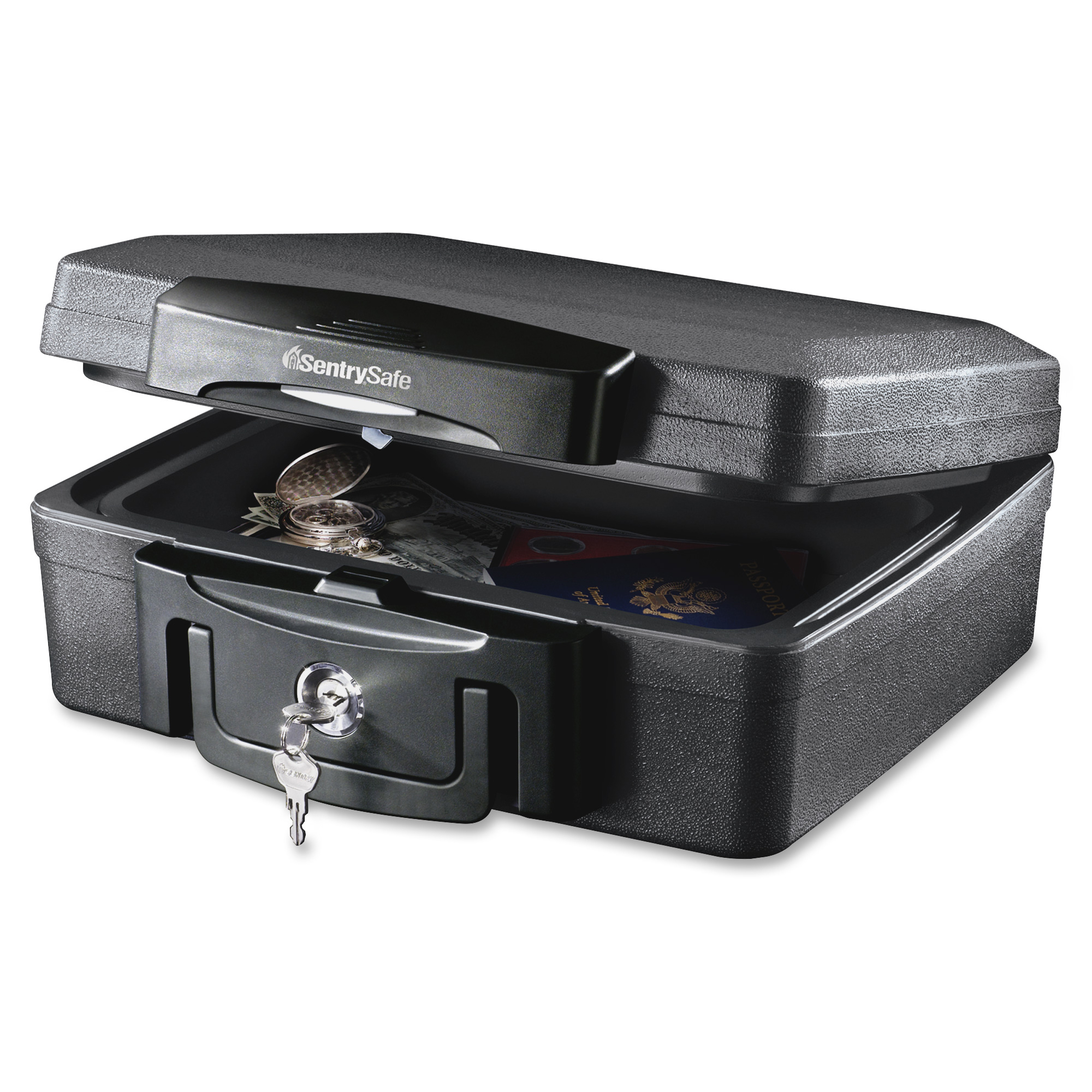 Water Fire Protector File Chest Box Safety Secure Security Key Lock Waterproof