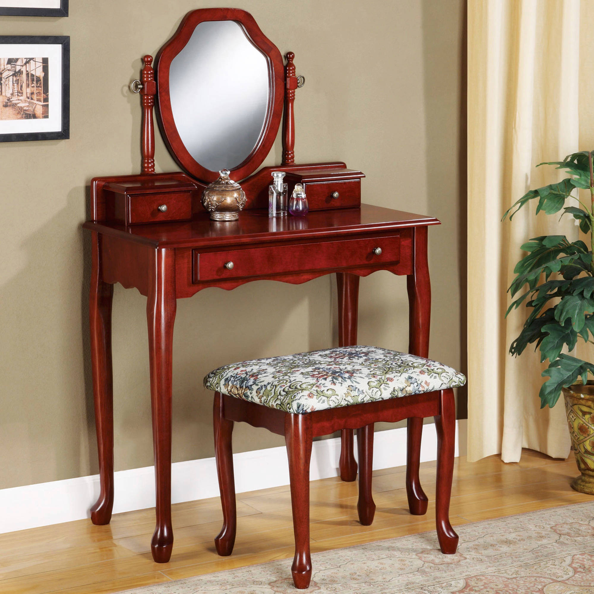 Coaster Vanity In Cherry Finish 3441 by Coaster